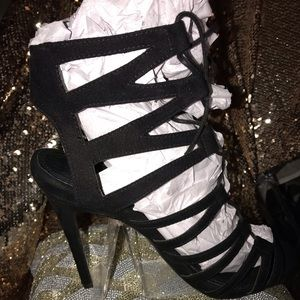 New sexy black ankle tie up sandals from Top Shop